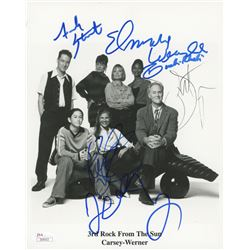 """3rd Rock From The Sun"" 8x10 Cast-Signed Photo with John Lithgow, French Stewart, Elmarie Wendel, Kr"