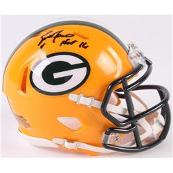 "Brett Favre Signed Packers Speed Mini-Helmet Inscribed ""HOF 16"" (Radtke COA)"