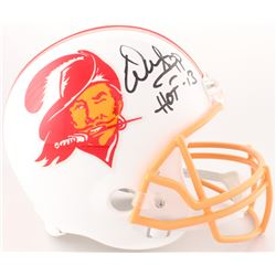 "Warren Sapp Signed Buccaneers Full-Size Throwback Helmet Inscribed ""HOF 13"" (JSA COA)"