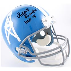 "Robert Brazile Signed Oilers Full-Size Helmet Inscribed ""HOF 18"" (JSA COA)"