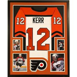 Tim Kerr Signed Flyers 34x42 Custom Framed Jersey (JSA COA)