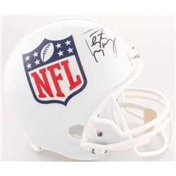Peyton Manning Signed NFL Shield Logo Full-Size Helmet (Fanatics Hologram)