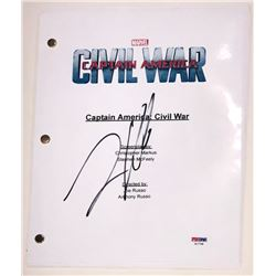 "Frank Grillo Signed ""Captain America: Civil War"" Full Movie Script (PSA COA)"