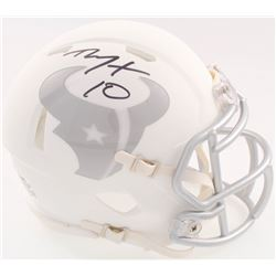 DeAndre Hopkins Signed Texans Matte White ICE Mini Speed Helmet (JSA COA)