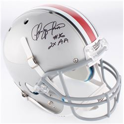 "Chris Spielman Signed Ohio State Buckeyes Full-Size Helmet Inscribed ""2x AA"" (JSA COA)"