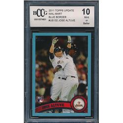 2011 Topps Update Wal-Mart Blue Border #US132 Jose Altuve (BCCG 10)