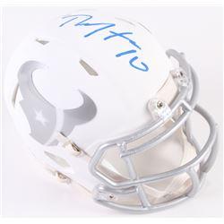 DeAndre Hopkins Signed Texans White Ice Custom Matte Speed Mini-Helmet (Radtke COA)