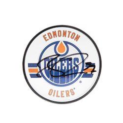 Connor McDavid Signed Oilers Acrylic Hockey Puck (UDA COA)