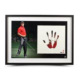 Tiger Woods Signed 20x28 Custom Framed Limited Edition Tegata Print (UDA Hologram)