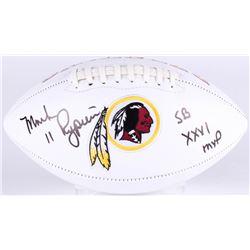 "Mark Rypien Signed Redskins Logo Football Inscribed ""SB XXVI MVP"" (JSA COA)"