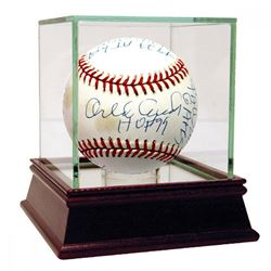 "Orlando Cepeda Signed Baseball with (17) Career Stat Inscriptions Including ""HOF 99,"" ""58 ROY"" (Regg"