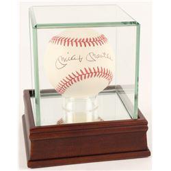 Mickey Mantle Signed OAL Baseball with Display Case (JSA ALOA)