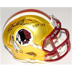 """Darrell Green Signed Redskins Mini Blaze Speed Helmet Inscribed """"HOF 08"""" (JSA COA)"""