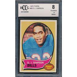 1970 Topps #90 O.J. Simpson (BCCG 8)