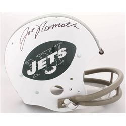 Joe Namath Signed Jets Full-Size Throwback Suspension Helmet (JSA COA)
