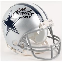 "Troy Aikman Signed Cowboys Mini-Helmet Inscribed ""SB XXVII MVP"" (Radtke COA  Aikman Hologram)"