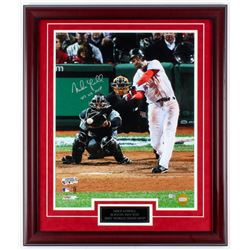 """Mike Lowell Signed Red Sox 27x23 Custom Framed Photo Display Inscribed """"2007 WS MVP"""" (MLB Hologram)"""