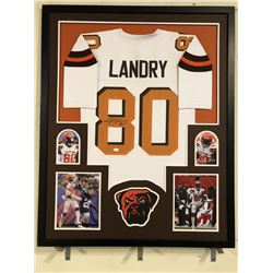 Jarvis Landry Signed Browns 34x42 Custom Framed Jersey (JSA COA)