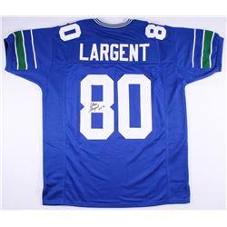 """Steve Largent Signed Seahawks Jersey Inscribed """"HOF '95"""" (JSA COA)"""