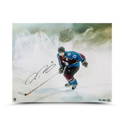 """Peter Forsberg Signed Avalanche """"Watcher"""" 16x20 Limited Edition Photo (UDA COA)"""