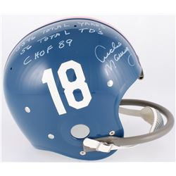 "Archie Manning Signed LE Ole Miss Rebels Full-Size Throwback Suspension Helmet Inscribed ""5576 Total"