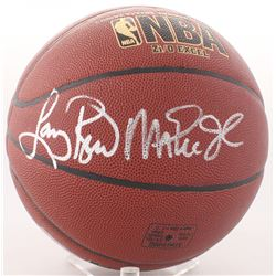 Magic Johnson  Larry Bird Signed NBA Basketball (Radtke COA)