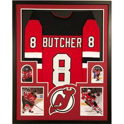 Will Butcher Signed Devils 34x42 Custom Framed Jersey (JSA COA)