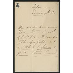Queen Victoria Signed Hand-Written Letter (JSA LOA)