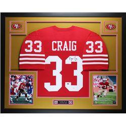 Roger Craig Signed 49ers 35x43 Custom Framed Jersey (JSA COA)