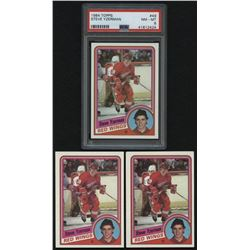 Lot of (3) 1984-85 Topps #49 Steve Yzerman RC (PSA 8)