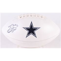 Emmitt Smith Signed Cowboys Logo Football (PSA COA)