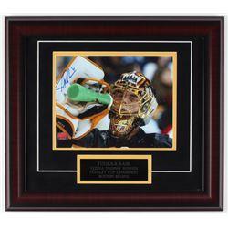 Tuukka Rask Signed Bruins 16x18 Custom Framed Photo Display (Rask Hologram)