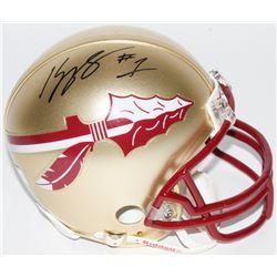Kelvin Benjamin Signed Florida State Seminoles Mini Helmet (Radtke COA)