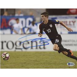 Christian Pulisic Signed Team USA 8x10 Photo (Beckett COA)
