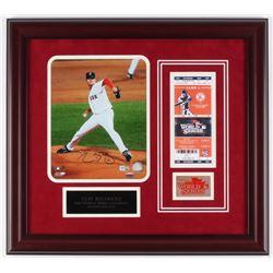 Clay Buchholz Signed Red Sox 19x21 Custom Framed Photo Display (MLB Hologram)