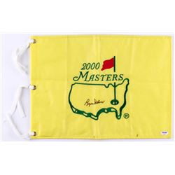 Byron Nelson Signed 2000 Masters Tournament Pin Flag (PSA COA)