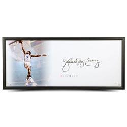 """Julius """"Dr. J"""" Erving Signed 76ers """"The Show"""" 20x46 Custom Framed Display (UDA COA)"""