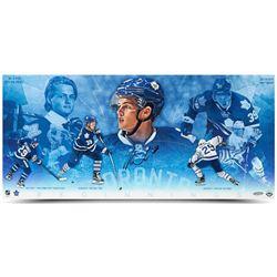 """William Nylander Signed Maple Leafs """"Beginnings Collage"""" 12x26 Photo (UDA COA)"""