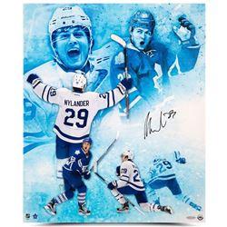 """William Nylander Signed Maple Leafs """"Celebration"""" 20x24 Photo (UDA COA)"""