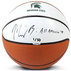 "Miles Bridges Signed LE Michigan State Spartans Logo Basketball Inscribed ""All American 14"" (UDA COA"