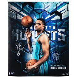 """Miles Bridges Signed Hornets """"Next"""" 20x24 Photo (UDA COA)"""