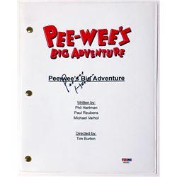 """Pee-wee Herman Signed """"Pee-wee's Big Adventure"""" Full Movie Script (PSA COA)"""