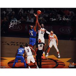 """Deandre Ayton Signed Suns """"Tip Off"""" 16x20 Limited Edition Photo Inscribed """"Time To Rise"""" (Game Day L"""