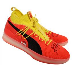 """Deandre Ayton Signed LE Pair of (2) Puma Clyde Court Disrupt Basketball Shoes Inscribed """"2018 NBA #1"""