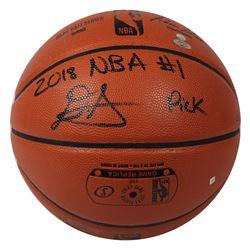 "Deandre Ayton Signed LE NBA Game Ball Series Basketball Inscribed ""2018 NBA #1 Pick"" (Game Day Legen"