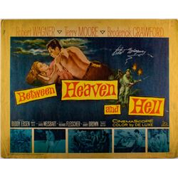 """Robert Wagner Signed Vintage 1961 """"Between Heaven and Hell"""" 22x28 Movie Poster (JSA COA)"""