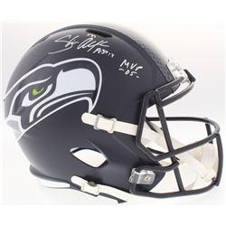 "Shaun Alexander Signed Seahawks Full-Size Speed Helmet Inscribed ""MVP -05-"" (Beckett COA)"