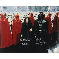 "Ian McDiarmid  David Prowse Signed ""Star Wars"" 16x20 Photo Inscribed ""- Emperor""  ""Is Darth Vader"" ("