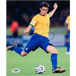 Kaka Signed Team Brazil 8x10 Photo (PSA COA)