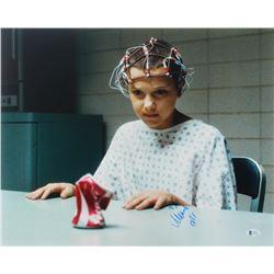 "Millie Bobby Brown Signed ""Stranger Things"" 16x20 Photo Inscribed ""011"" (Beckett COA)"